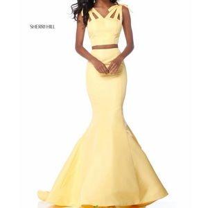 Sherri Hill Two Piece Mermaid Dress